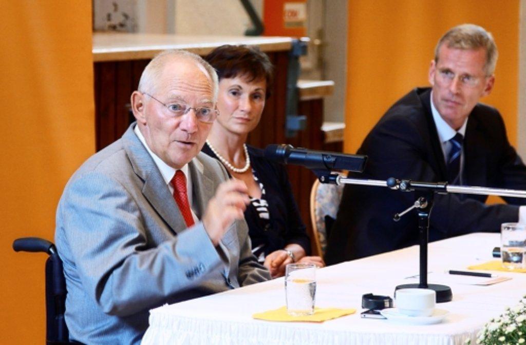 Wolfgang Schäuble zollt Binninger Respekt. Foto: FACTUM-WEISE