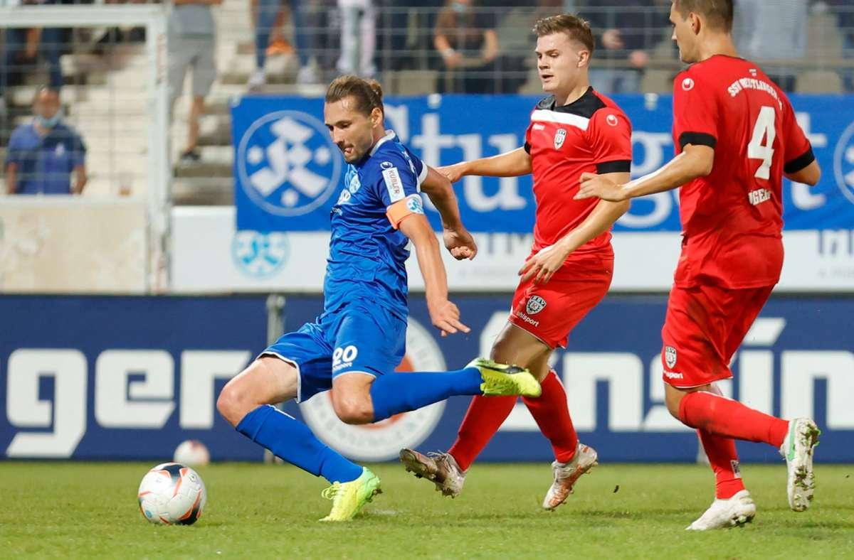 Die Kickers hoffen auf die Torjägerqualitäten von Stürmer Mijo Tunjic. Foto: Pressefoto Baumann/Volker Mueller