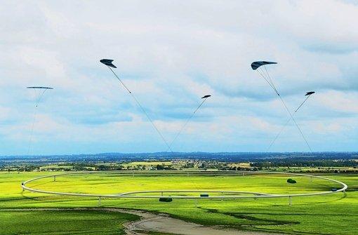 Windkraftdrachen im Höhenflug