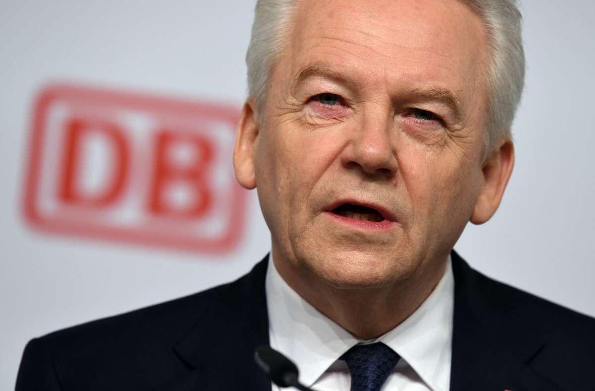 Der frühere Bahnchef Rüdiger Grube hat die Partner des  Bahnprojekts Stuttgart 21 auf die Zahlung einer Milliardensumme verklagt. Foto: dpa/Rainer Jensen