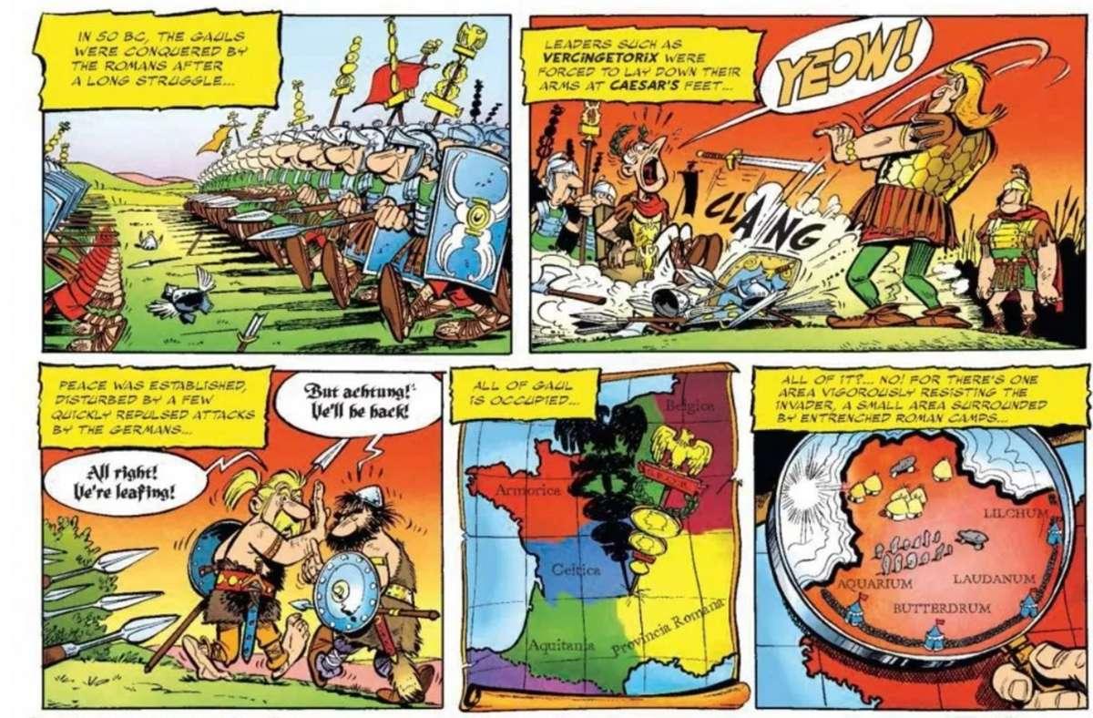 Asterix auf Englisch – ja, man erkennt das durchaus wieder. Foto: Papercutz