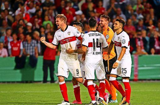 Der VfB zittert sich eine Runde weiter