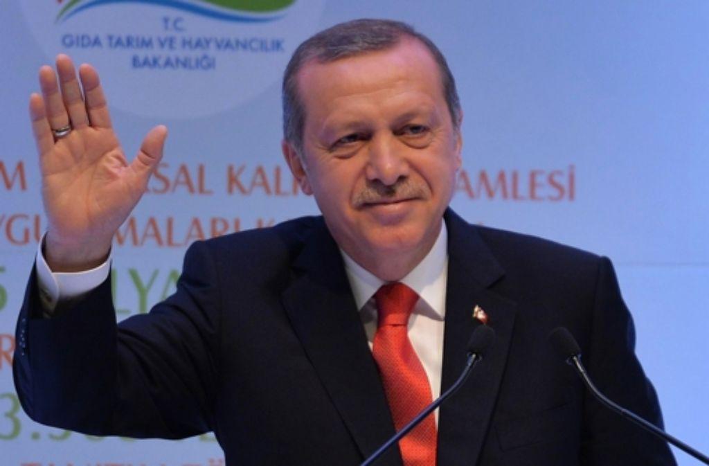 Der geplante Auftritt von Präsident Erdogan in Karlsruhe ruft seine Kritiker auf den Plan. Foto: AFP
