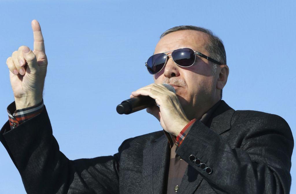 Der türkische Präsident Recep Tayyip Erdogan Foto: Pool Presidential Press Service