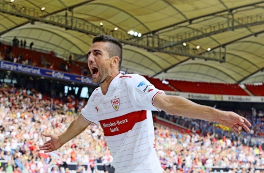 Nach seiner Sperre will Vedad Ibisevic gegen Hamburg wieder jubeln. Foto: Baumann