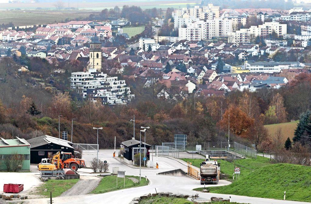 Die Deponie Froschgraben in Schwieberdingen. Foto: factum/Granville
