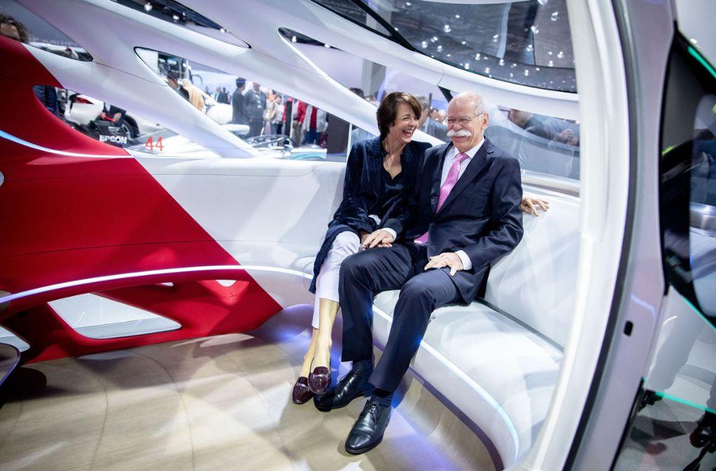 Dieter Zetsche mit seiner Frau Anne Foto: dpa