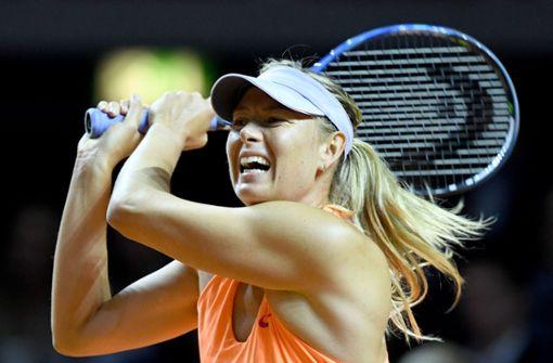 Tennis-Star Scharapowa verzichtet auf Start in Stuttgart
