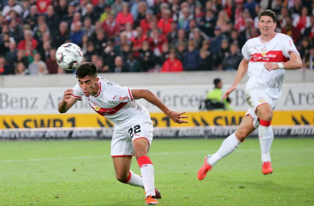 Mario Gomez (rechts) oder Nicólas González: Wer stürmt für den VfB Stuttgart gegen die TSG Hoffenheim? Foto: Pressefoto Baumann