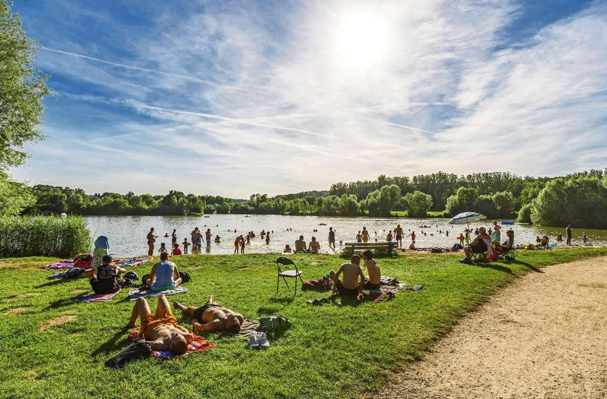 Bei gutem Wetter genießt  der Baggersee eine hohe  Anziehungskraft. Foto: 7aktuell.de//Daniel Jüptner. Foto: