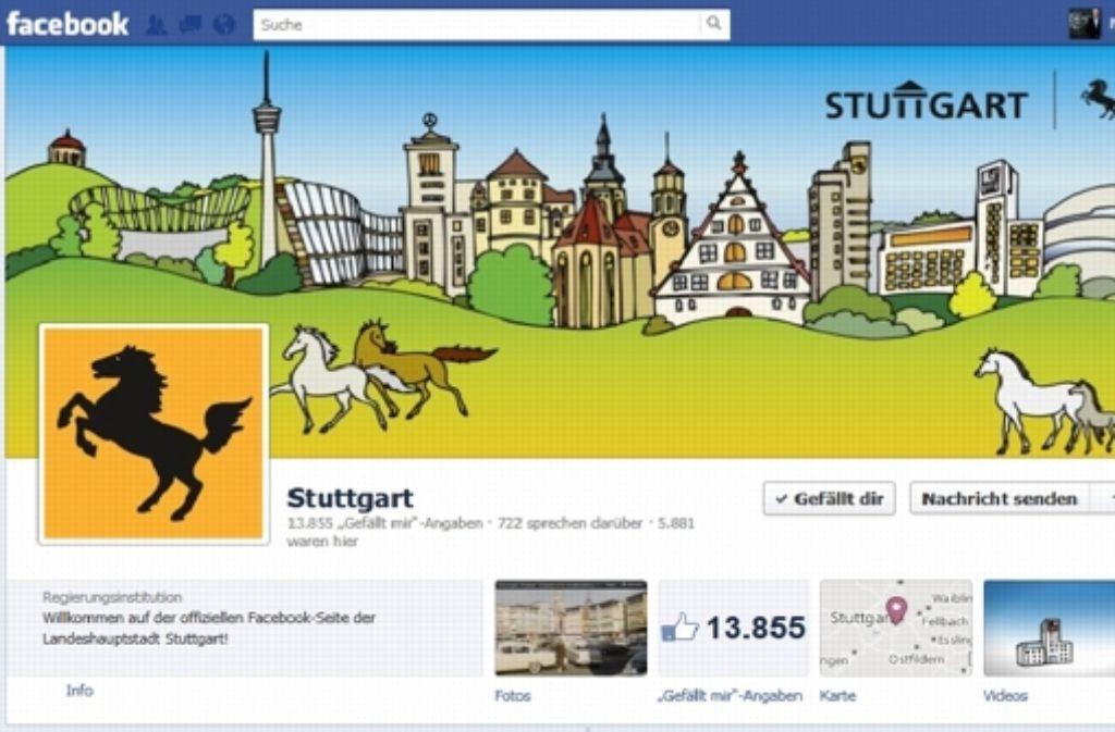 Auf Facebook heißt die Seite der Stadt einfach: Stuttgart. Doch das dürfte sich bald ändern. Screenshot: StZ