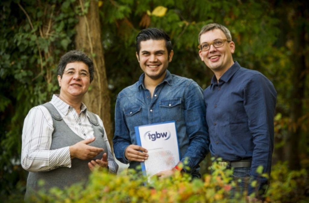 Oya Poyraz, Olcay Miyanyedi und Jochen Kramer (von links) wollen in den nächsten Wochen auf Moscheegemeinden und Migrantenvereine zugehen. Foto: Lichtgut/Max Kovalenko