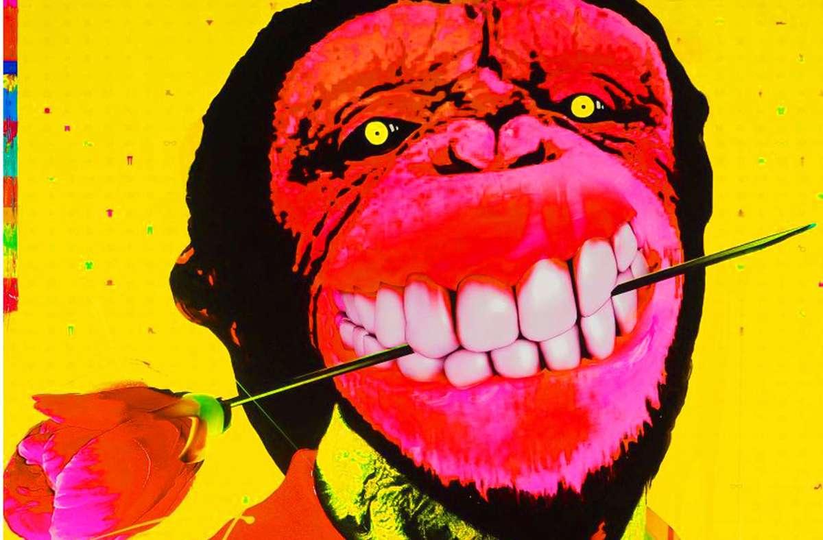 "Marc Feltens ""Affenmensch"" (2019, Ausschnitt) ist in der Galerie Abt Art zu sehen Foto: /Galerie AbtArt"