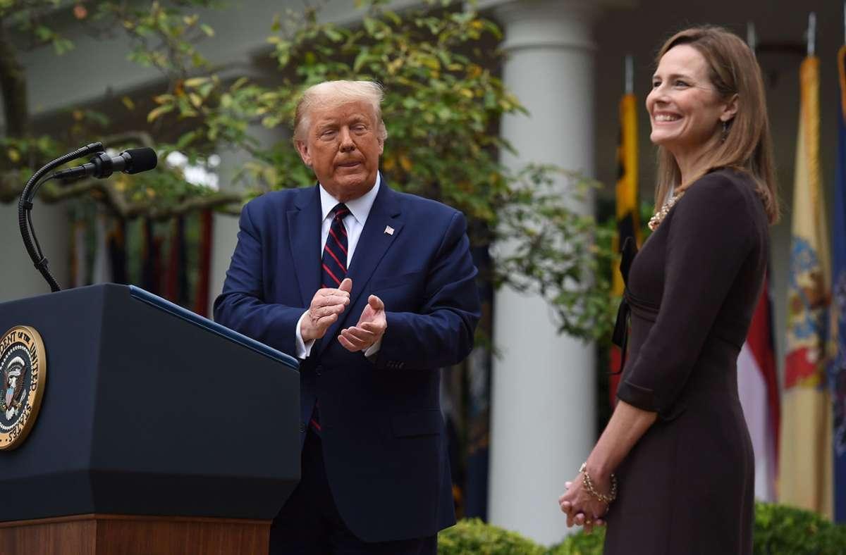 Noch nie in der US-Geschichte wurde so kurz vor einer Präsidentenwahl über eine Richterberufung an das Oberste Gericht entschieden. Foto: AFP/OLIVIER DOULIERY