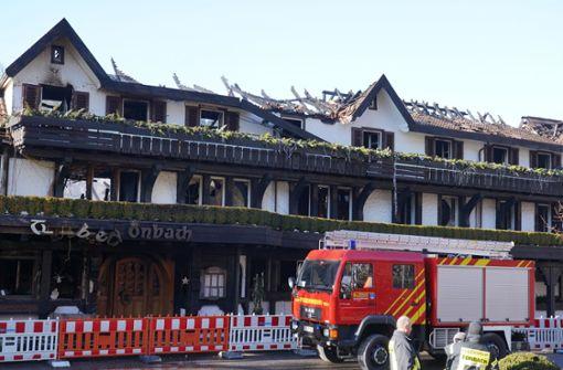 Einsturzgefahr macht  Suche nach Brandursache schwierig