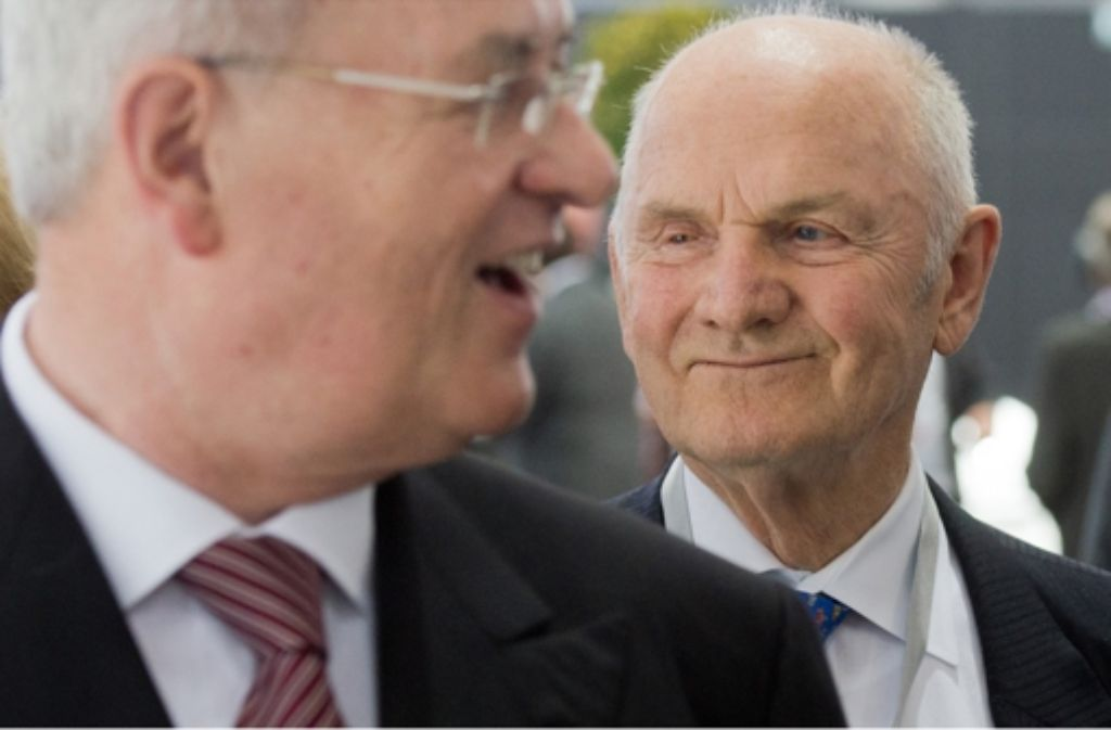 VW-Aufsichtsratschef Ferdinand Piëch (rechts) versucht laut übereinstimmenden Informationen der Deutschen Presse-Agentur und des NDR, Vorstandschef Martin Winterkorn absetzen zu lassen.  Foto: dpa