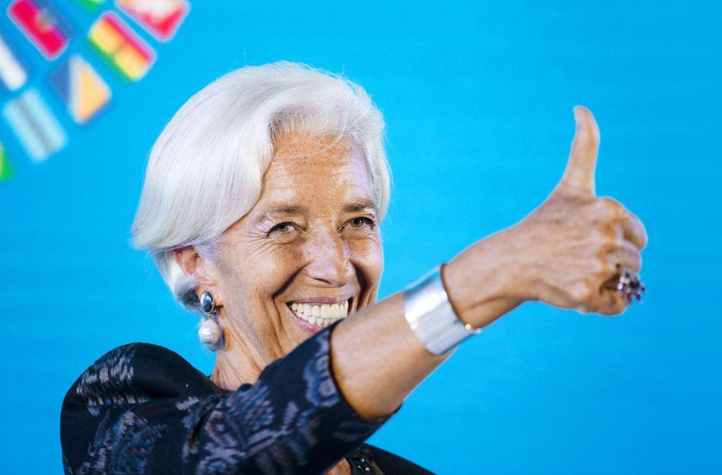 Daumen hoch: Christine Lagarde hat schon einige Spitzenämter erfolgreich absolviert. Foto: dpa