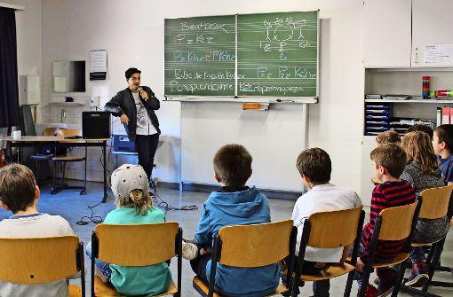 Beatbox-Europameister unterrichtet Körschtalschüler