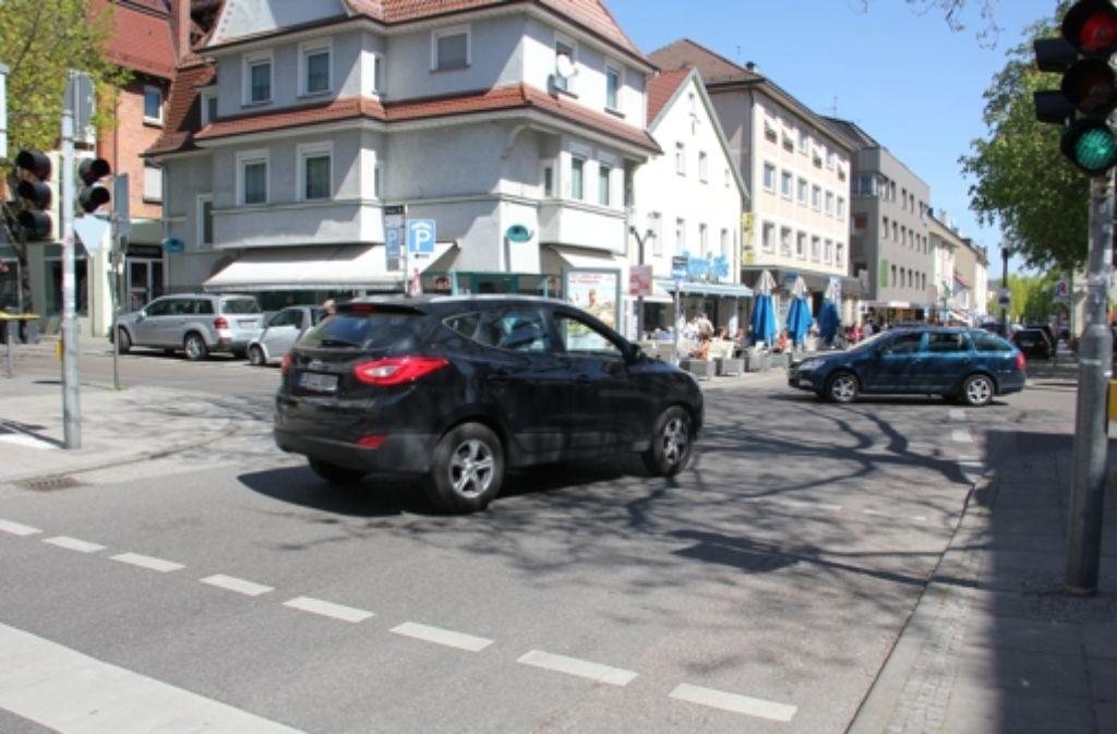 An der Kreuzung Stuttgarter/Grazer Straße ändert sich vorerst nichts. Foto: Georg Friedel