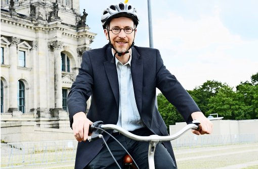 Rad statt Fahrbereitschaft, Matthias Gastel bewegt sich in Berlin umweltfreundlich. Foto: z