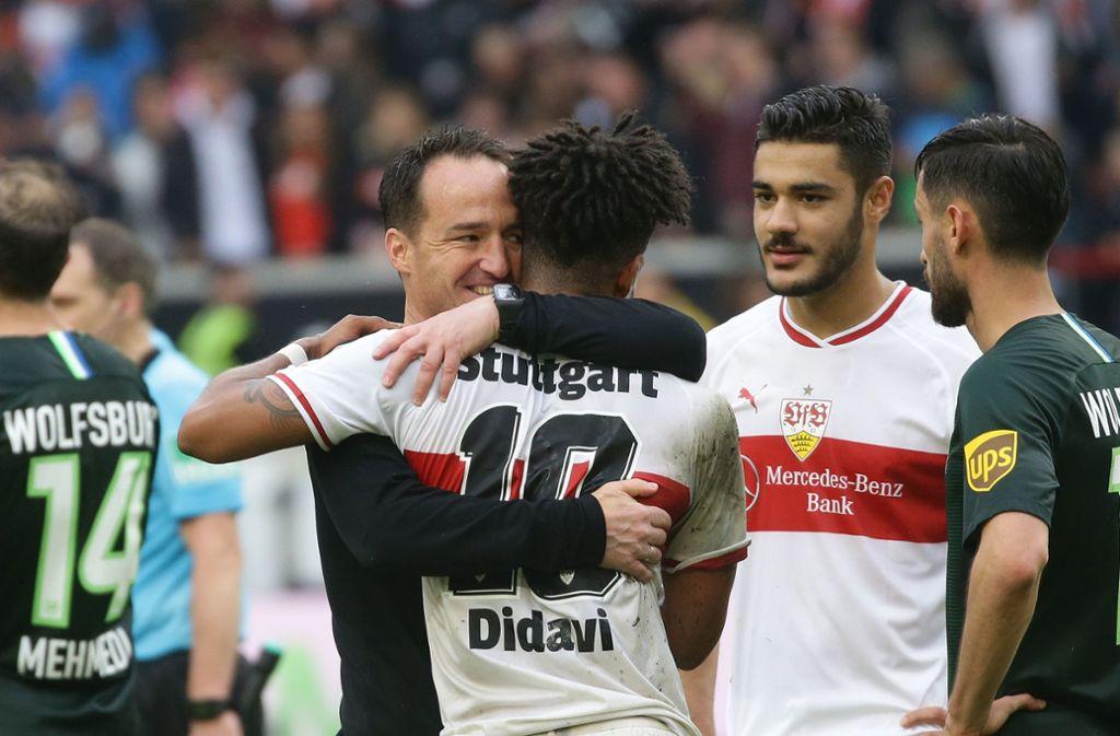 Nico Willig (links) und der VfB Stuttgart müssen in der Relegation ran. Foto: Pressefoto Baumann