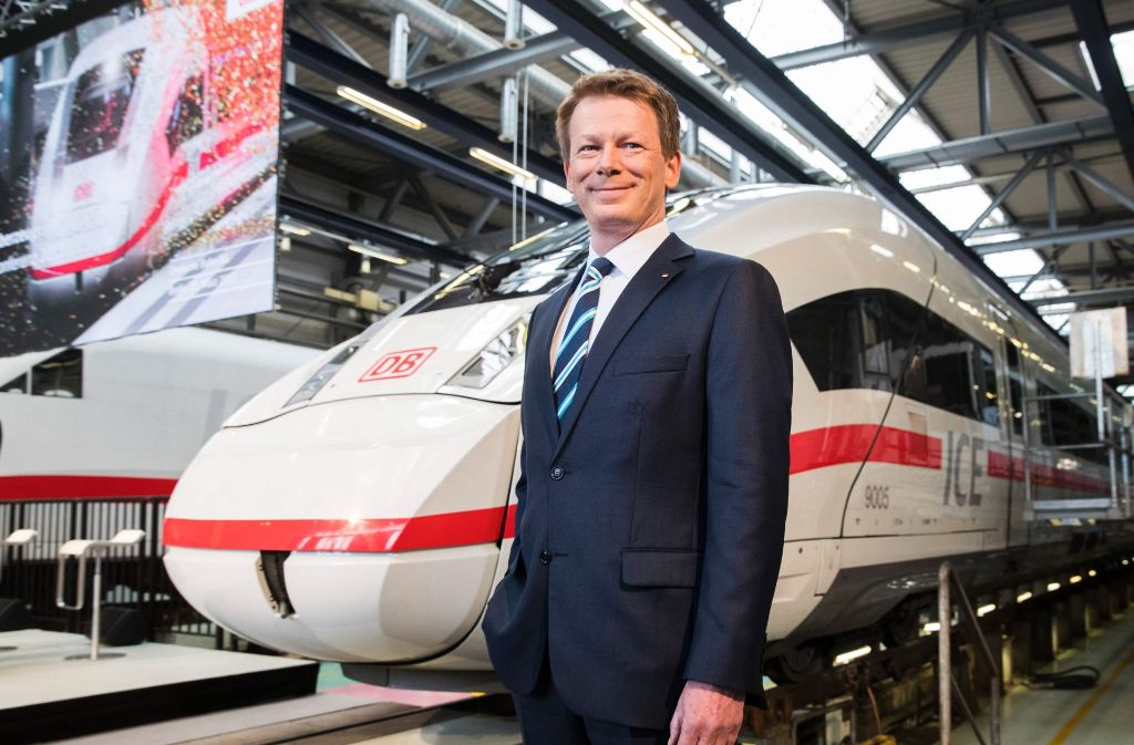 Bahnchef Lutz freut sich über steigende Fahrgastzahlen. Foto: AFP