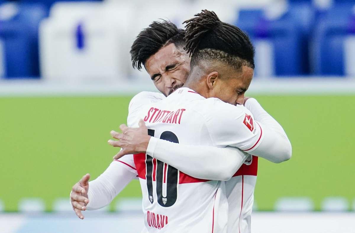 Die Verletzung von Stürmer-Star Gonzales bereitet den Fans des VfB Stuttgart Sorgen. Foto: dpa/Uwe Anspach