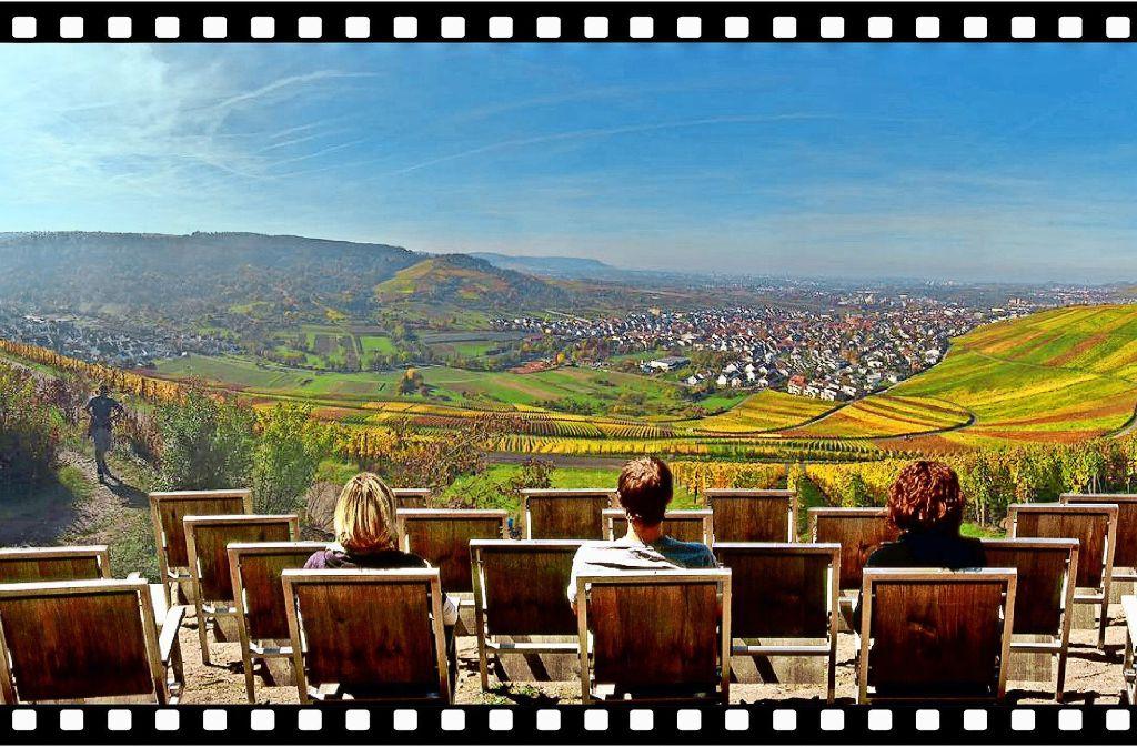 Ganz großes Kino: der  Aussichtspunkt Drei Riesen bei Beutelsbach bietet  einen schönen Blick auf die Landschaft. Foto: privat