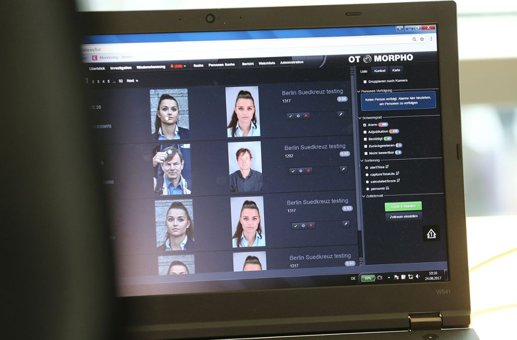 Mit biometrischen Daten von Gesichtern könnte die Fahndung erleichtert werden. Foto: dpa/Wolfgang Kumm
