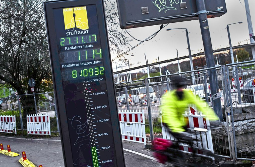 Immer mehr Stuttgart nutzen das Fahrrad. Foto: Lichtgut/Max Kovalenko
