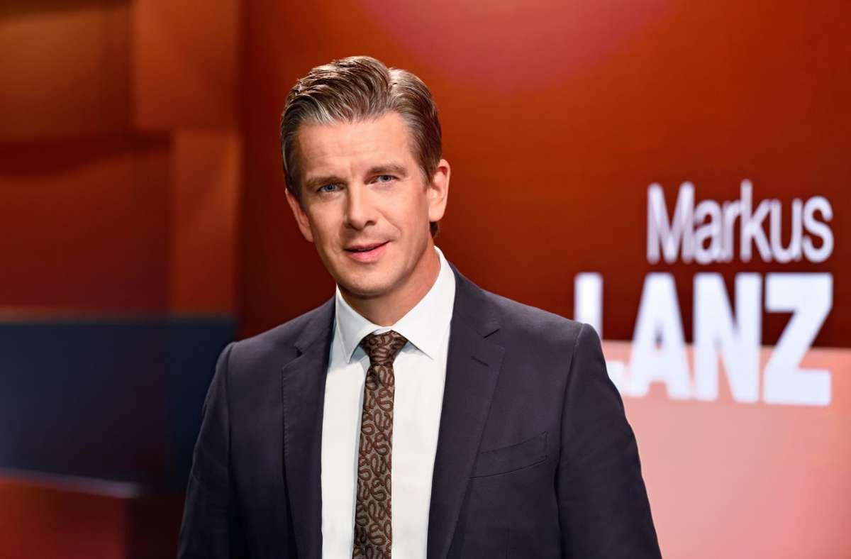 Markus Lanz in seiner Talkshow Foto: ZDF und Markus Hertrich/Markus Hertrich