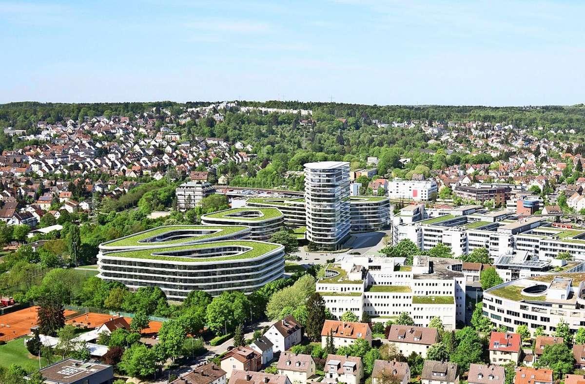 So hat das Architekturbüro Gerber die Allianz-Zentrale geplant. Foto: Visualisierung: Allianz