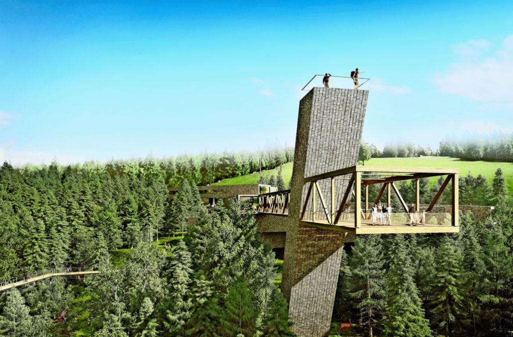 """Blick in die Baumwipfel: der """"Skywalk"""" soll die Attraktion des Besucherzentrums werden Foto: bloomimages"""