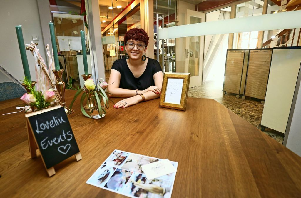 Linda Lutz ist die erste Mieterin im Start-up Planet Sindelfingen. Foto: factum/