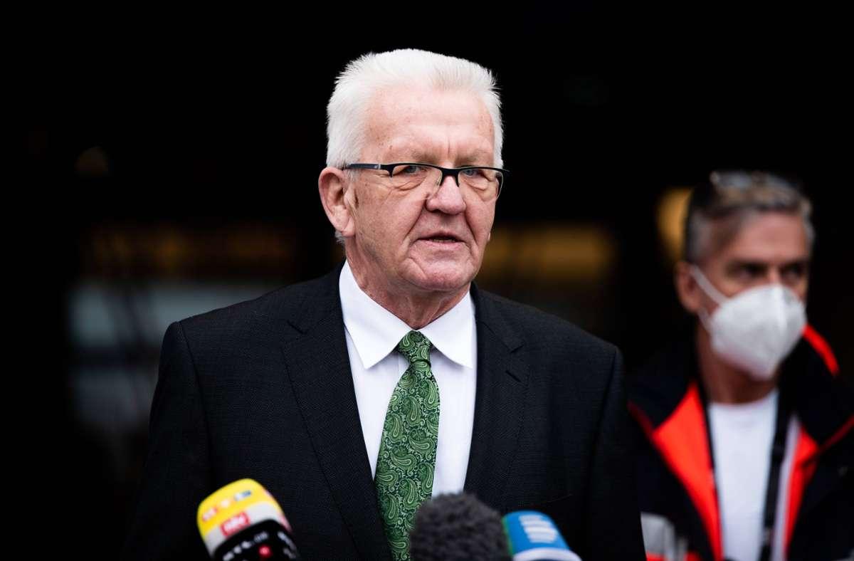 Ministerpräsident Winfried Kretschmann Foto: imago images