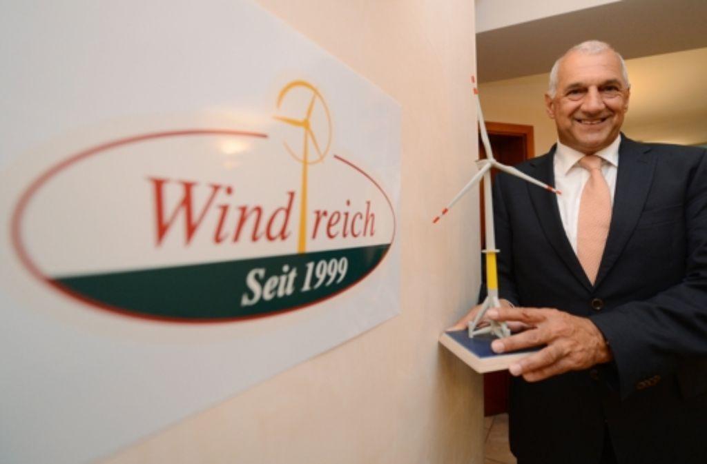 Windreich-Anleger sind nicht gut auf Firmengründer Willi Balz Foto: dpa