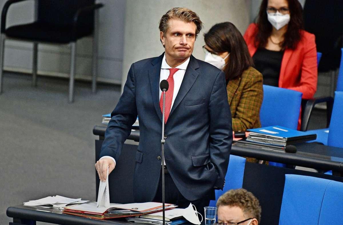 Breiß im Bundestag. Er weißt die Vorwürfe gegen ihn zurück. Foto: