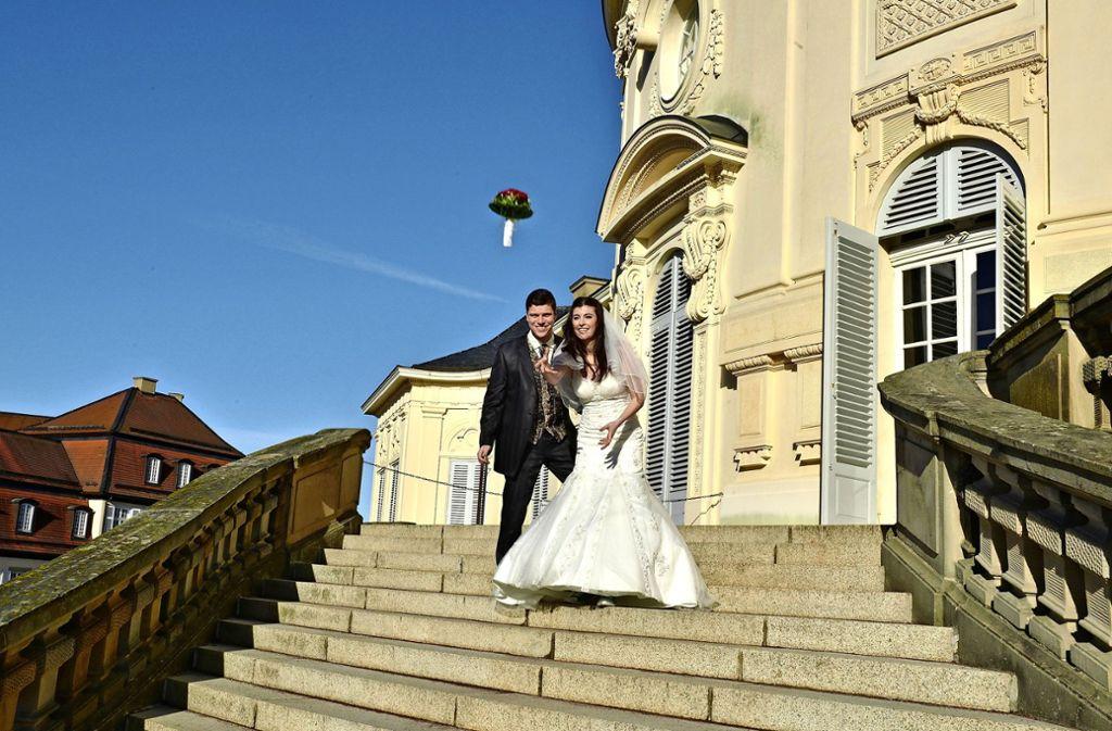 Hochzeit vor prunkvoller Kulisse: das Schloss Solitude Foto: Schlossverwaltung/Füssinger