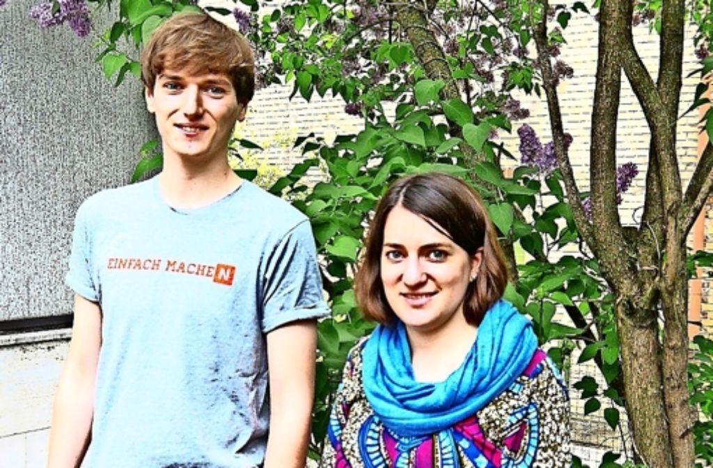 David Wirth und Anne-Sophie Rink engagieren sich im Jugendbeirat. Foto: Nina Ayerle