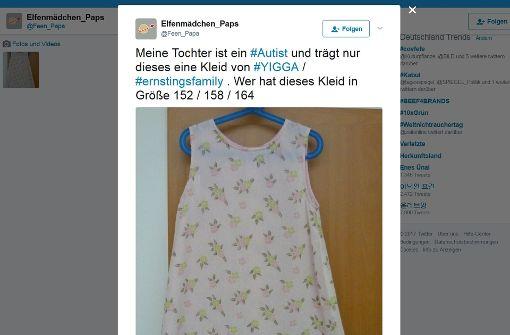 Vater sucht Kleid für seine autistische Tochter