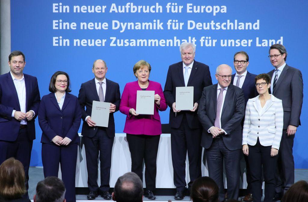 Die Große Koalition steht vor großen Problemen. Foto: dpa