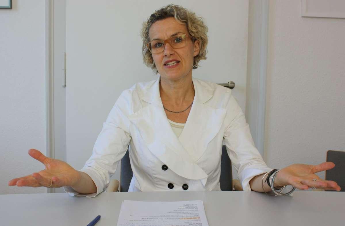 Eva Noller ist sehr gerne Fachbürgermeisterin, sagt sie. Sie wolle bauen, entwickeln, eine Stadt weiterbringen. Foto: Archiv Natalie Kanter