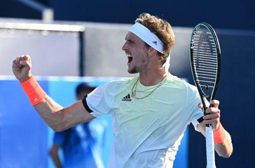 Alexander Zverev zieht ins Viertelfinale ein