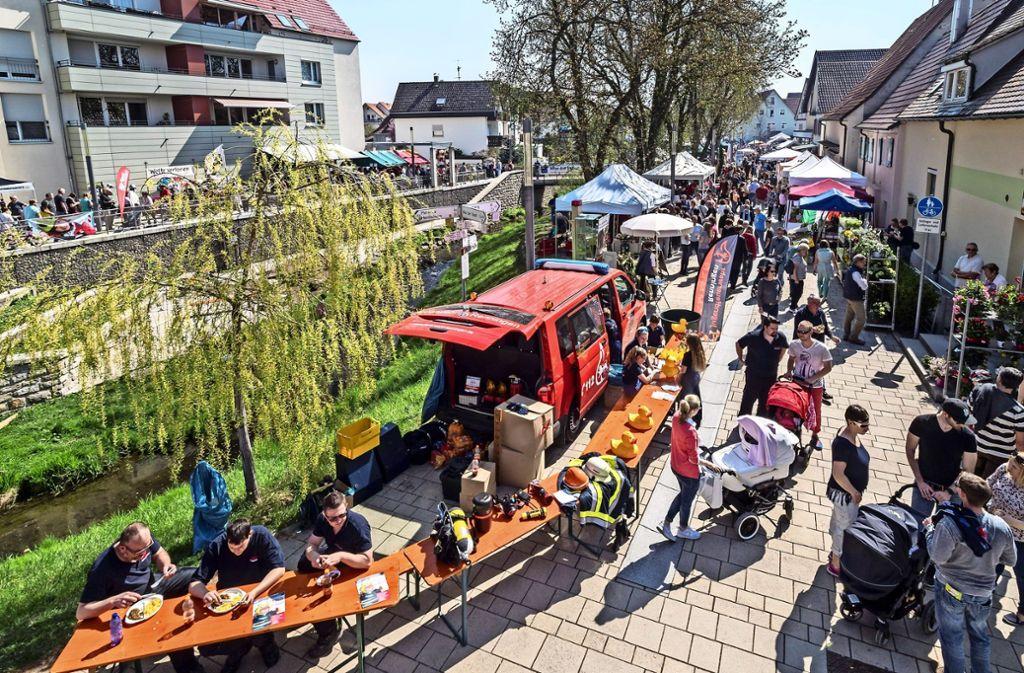 Beim Ostermarkt in Malmsheim herrschten 2017 fast sommerliche Temperaturen. Foto: factum/Archiv