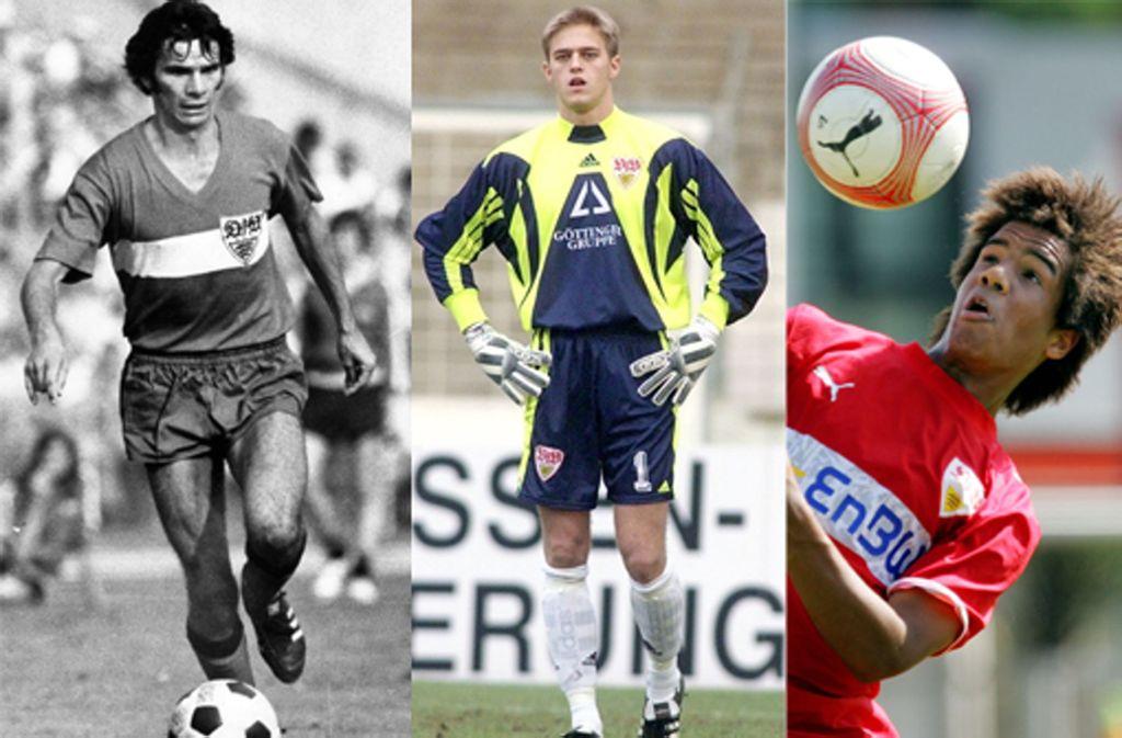 Die VfB-Spieler im Laufe der Zeit. Foto: Baumann