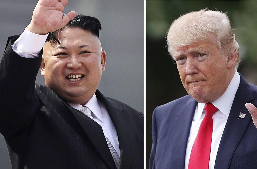 Es geht nur um Macht: Der nordkoreanische Präsident Kim Jong Un und US-Präsident Donald Trump. Foto: AP