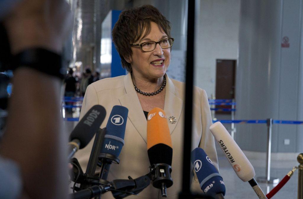Die Bundeswirtschaftsministerin Brigitte Zypries Foto: AP