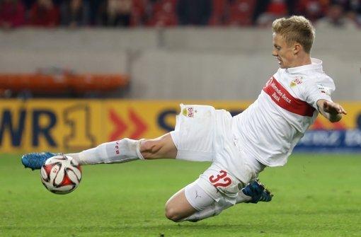 Einsatzfreudig: der VfB-Abwehrspieler Timo Baumgartl gibt in der Bundesliga  eine gute Figur ab. Foto: Pressefoto Baumann