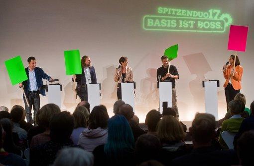 Erste Debatte der grünen Spitzenkandidaten