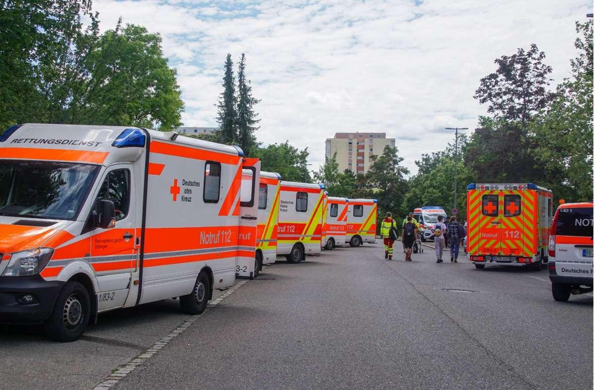 Reizgasalarm in Böblingen: Großeinsatz  für die Rettungskräfte. Foto: SDMG/SDMG / Dettenmeyer